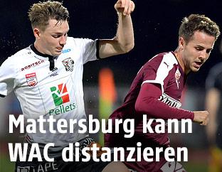 Florian Flecker (WAC) and Rene Renner (Mattersburg)