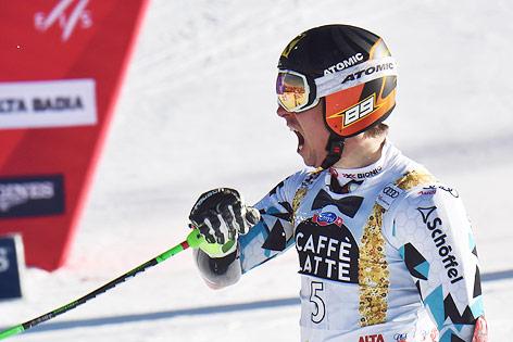 Hirscher-Führung im Riesentorlauf von Alta Badia