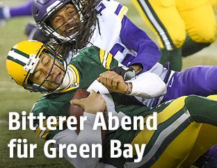 Brett Hundley(Green Bay) und Trae Waynes (Minnesota Vikings)
