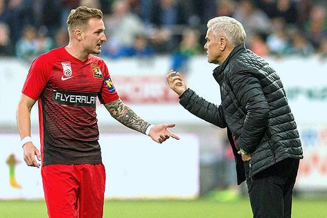 Philipp Posch und Trainer Ernst Baumeister