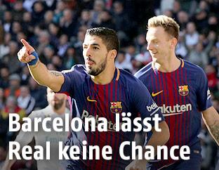Lionel Messi, Luis Suarez und Ivan Rakitic (Barcelona)