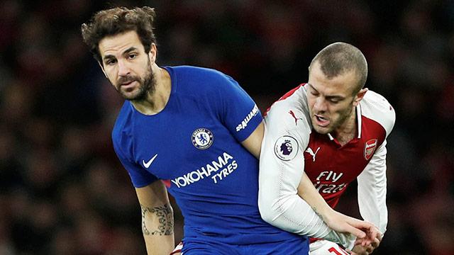Cesc Fabregas (Chelsea) gegen Jack Wilshere (Arsenal)