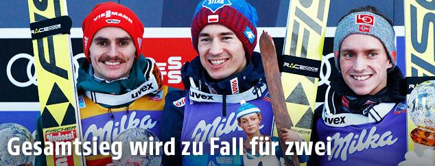 Kamil Stoch, Stefan Kraft und Richard Freitag