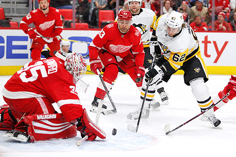 Spielszene der NHL-Partie Detroit Red Wings gegen Pittsburgh Penguins
