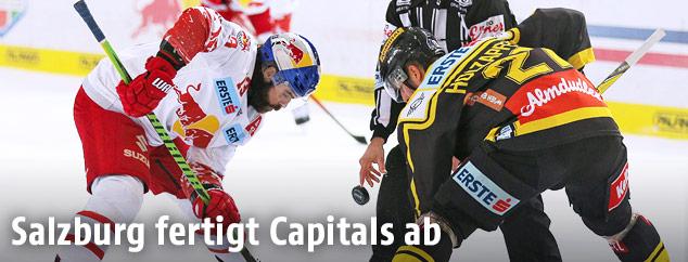 Szene aus dem Match Capitals gegen Red Bull Salzburg
