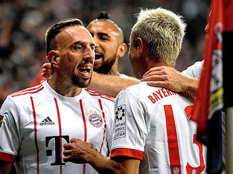Jubel bei Bayern