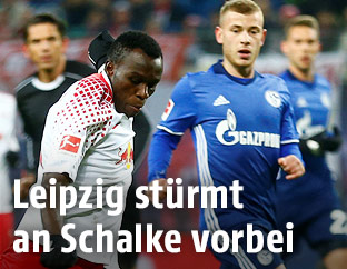 Bruma (Leipzig) und Max Meyer (Schalke)