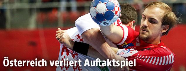 Szene aus dem Match Österreich gegen Weißrussland