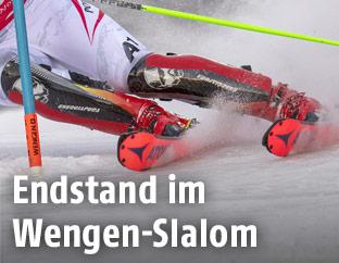 Beine eines Slalomläufers
