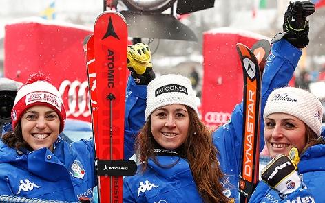 Federica Brignone, Sofia Goggia und Nadia Fanchini