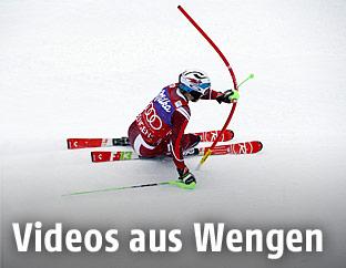 Marcel Hirscher beim Slalom in Wengen