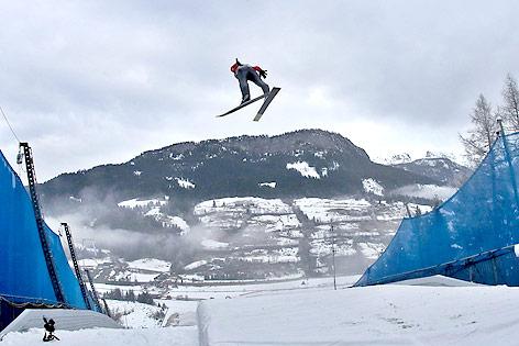 Skispringer in Kulm