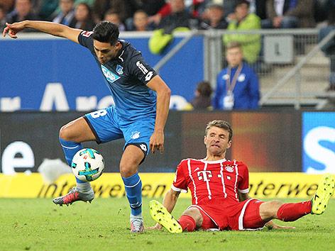 Szene aus dem Match Bayern München gegen Hoffenheim