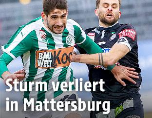 Michael Novak (Mattersburg) und Philipp Huspek (Sturm)