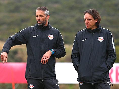 RBS-Trainer Marco Rose und Rene Aufhauser