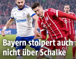 Daniel Caligiuri (Schalke) und Robert Lewandowski (Bayern)