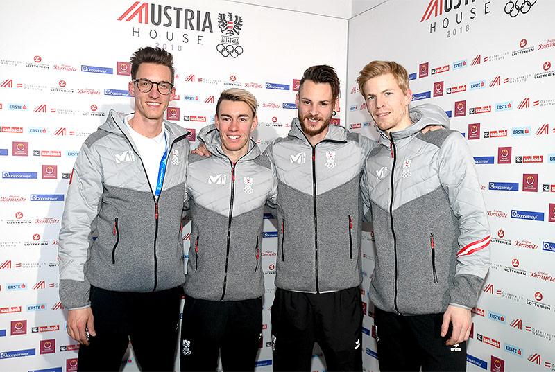Gregor Schlierenzauer, Stefan Kraft, Manuel Fettner und Michael Hayböck