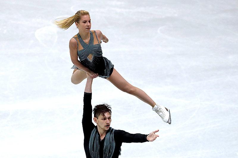 Harley Windsor mit seiner Partnerin Ekaterina Alexandrovskaya (beide AUS)