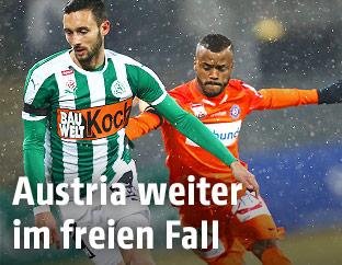 Markus Pink (SV Mattersburg) und Felipe Augusto Rodrigues Pires (FK Austria Wien)