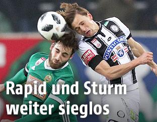 Thanos Petsos (Rapid) und Stefan Hierlaender (Sturm)