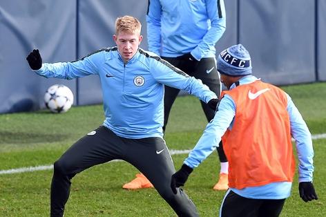 Kevin de Bruyne (Manchester City) während einer Trainingseinheit