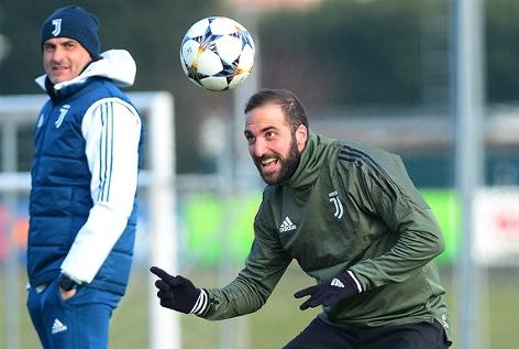Gonzalo Higuain (Juventus) während einer Trainingseinheit