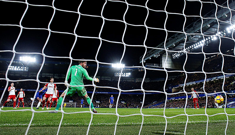 Tor von Eden Hazard (Chelsea)