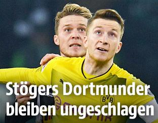 Marco Reus (Dortmund) und  Nico Elvedi (Mönchengladbach)