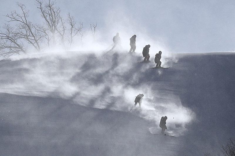 Kurssetzer im Schneesturm