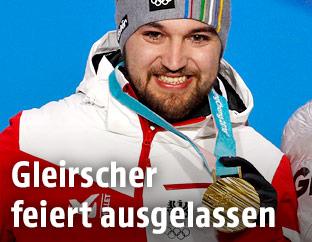 David Gleirscher mit Goldmedaille