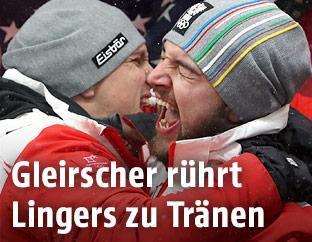 Rodler Wolfgang Linger und David Gleirscher