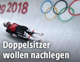Georg Fischler und Peter Penz im Doppelsitzer