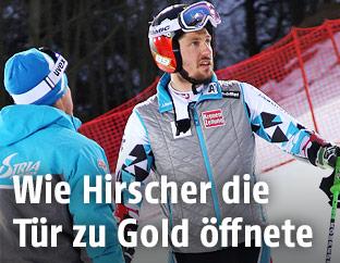 Marcel Hirscher mit seinem Trainer Michael Pircher