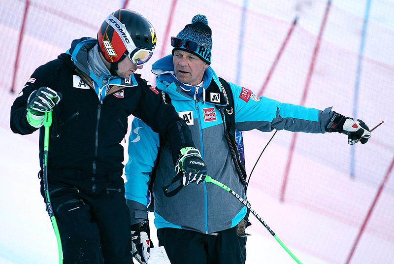 Marcel Hirscher und sein Trainer Michael Pircher