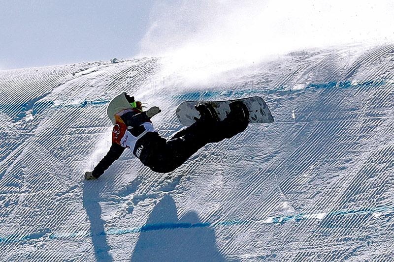 Snowboarderin Reira Iwabuchi
