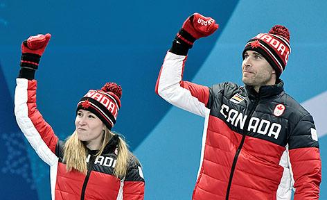 Das kanadische Duo Kaitlyn Lawes und John Morris