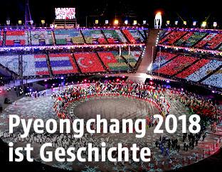 Die Abschlussfeier der Olympischen Spiele