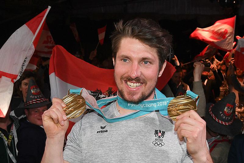 Marcel Hirscher mit zwei Goldmedaillen