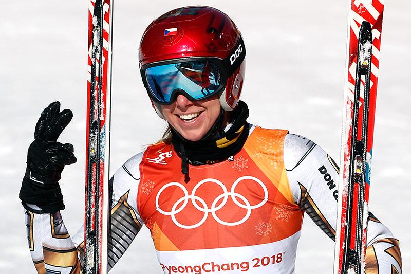 Skifahrerin Ester Ledecka (CZE)