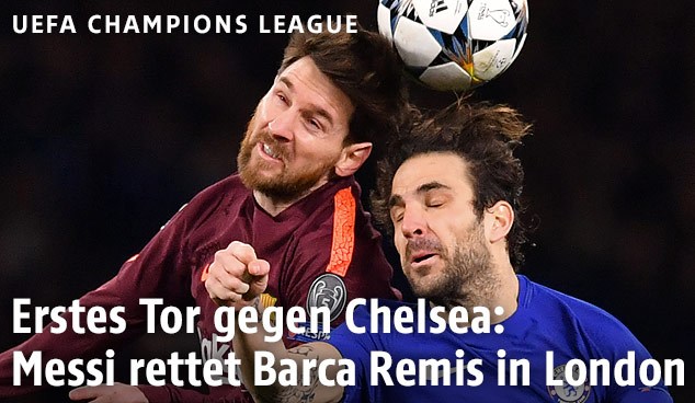 Cesc Fabregas (Chelsea) und Lionel Messi (Barcelona)