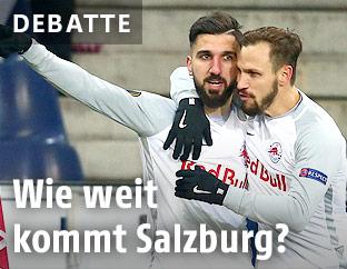 Munas Dabbur und Andreas Ulmer (RBS)