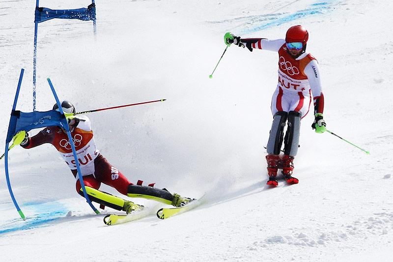 Daniel Yule und Marco Schwarz