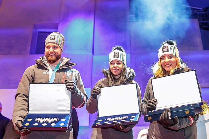 Marco Schwarz, Stephanie Brunner, Katharina Gallhuber