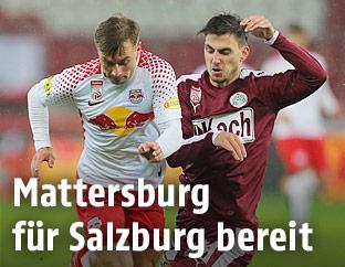Frederik Gulbrandsen (Salzburg) und Thorsten Mahrer (Mattersburg)