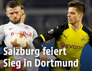 Valon Berisha (Salzburg) und Julian Weigl (Dortmund)