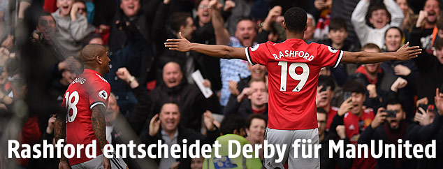 Jubel von Marcus Rashford (Manchester United)
