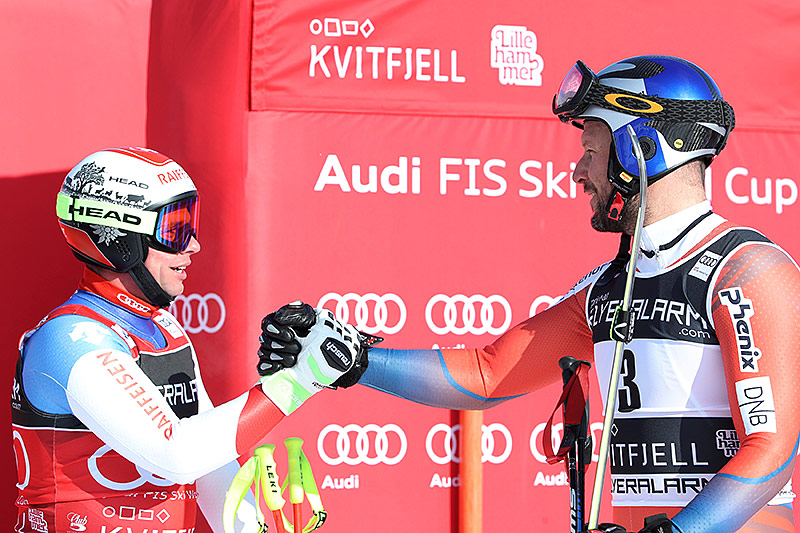 Beat Feuz (Schweiz) und Aksel Lund Svindal (Norwegen)