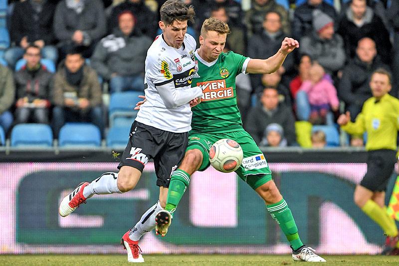 Benedikt Zech (Altach) und Philipp Schobesberger (Rapid)