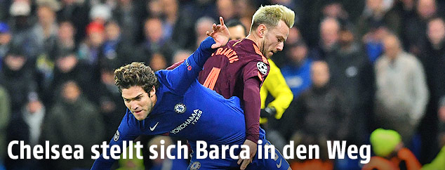 Marcos Alonso (Chelsea) und Ivan Rakitic (Barcelona)
