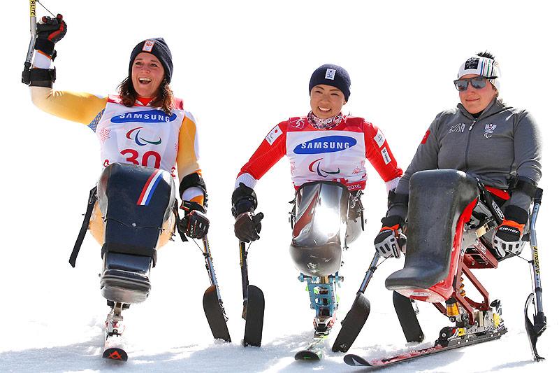Linda van Impelen (Niederlande), Momoka Muraoka (Japan) und Claudia Lösch (Österreich)
